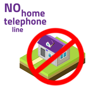 No Home Phone Line needed